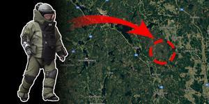 Polisens bombtekniker kallades ut till Öjesjöbrännan. Foto: Johan Nilsson/TT/ Google maps. Montage: Terese Westberg