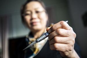 Knivarna är importerade från Thailand och kommer i diverse olika former.