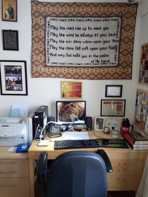 Antigones skrivbord.