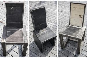 Stolarna finns i tre olika modeller. Allt är i tydliga delar och i kuber så att det går att skicka iväg utan problem. Sedan får kunden trycka ihop möbeln själv.
