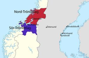 Vid nyår slås Tröndelagen ihop till en och samma region.