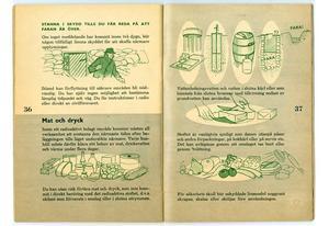 Bild: Försvarsmakten.Ett avsnitt handlade om mat och dryck i en av de gamla broschyrerna.