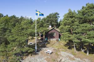 Det naturnära huset på Tviklubbarna 4 på Blidö hamnade också i topp fem. Foto: Sjönära fastigheter.