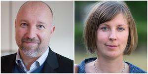 Johan Schönbeck och Hanna Klingborg leder varsin kommundelsnämnd i dag. Inget är klart, men ett tips är att de sitter kvar även efter årsskiftet.