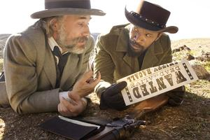 King Schultz (Christoph Waltz) fritar slaven Django (Jamie Foxx) som blir hans prisjägarkompanjon. Foto: AP/The Weinstein Company, Andrew Cooper, SMPSP