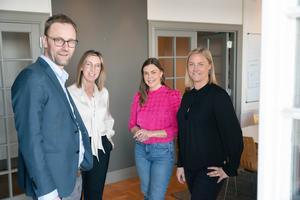 Andreas, Jennie, Amanda och Kristin på Poolia Jönköping.