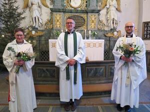 Från vänster Ingela Blomström, Kalle Bengtz och Fredrik Linder. Foto: Walters Börje Edénius