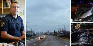 Två unga män är delgiven misstanke om brott efter den svåra olyckan i Kramfors. Foto: Lisa Selin, Birgitta Strandh och räddningstjänsten. Montage: Birgitta Strandh.