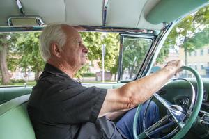 Gunnar Jonsson från Söderhamn American Cars som arrangerar cruisingen.