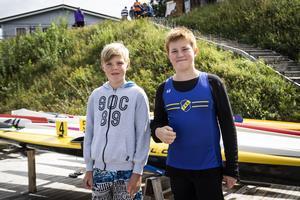 Arvid Söderman, 11, och Hugo Sundin Nowik, 12.
