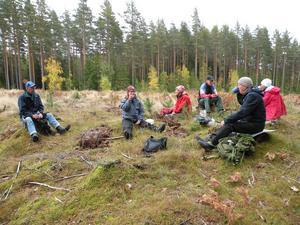 SPF Tuna-Säter fikade i skogen.