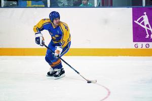 Magnus Svensson under OS-turneringen i Lillehammer 1994 som slutade med svenskt guld. Foto: Bildbyrån