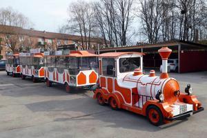 Säters turisttåg Turis kommer även att tuffa runt i Borlänge i sommar.