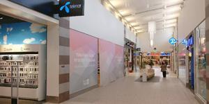 Här mellan Telenor och Gamestop i köpcentrumet Tuna Park öppnar Lekia den andra maj. Foto: Nicklas Petersson/Lekia.