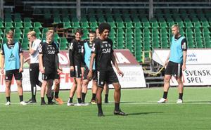 Det var bra stämning i laget på träningen inför lördagens match mot BP.
