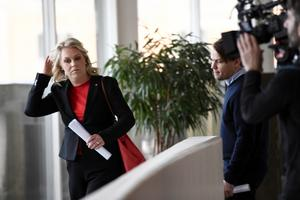 Socialminister Lena Hallengren (S) är ansvarig över både Socialstyrelsen och LSS. Foto: Naina Helen Jåma / TT