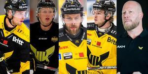 August Nilsson, Calle Ehrnberg, Morgan Hassel, Calle Själin samt sportchef Patrik Zetterberg.