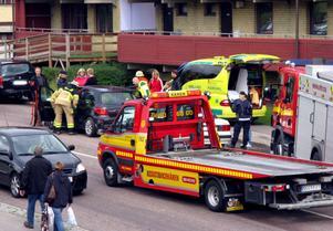Tre bilar var inblandade i olyckan på Kugsgatan, vid middagstid på lördagen.