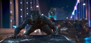 Likt Batman är Black Panthers superkrafter högteknologisk utrustning, hög intelligens och omfattande kampsportsfärdigheter. Foto: Matt Kennedy/Marvel Studios-Disney via AP