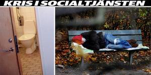 Om socialen stänger flera boenden riskerar fler att bli hemlösa. En varm, offentlig, toalett kan vara det enda som erbjuds mot kylan. Foto: TT