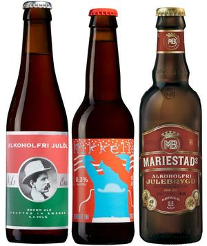 Även alkoholfria julöl kan smaka bra. De här tre till exempel.