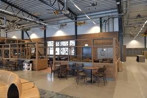 Lyft gärna blicken från glaset eller kaffekoppen när du besöker restaurangen på Sälens nya flygplats.