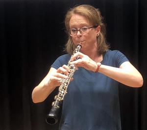 Verity Gunning-Olsson är oboist i Västerås Sinfonietta och initiativtagare till sopplunchkonserterna.