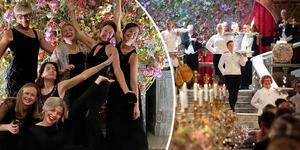 Svenska kammarorkestern börjar bli varma i kläderna, i år var andra gången de stod för underhållningen på Nobelbanketten. Foto: Gregor Zubicky / Jessica Gow / TT  (bilden är ett montage)
