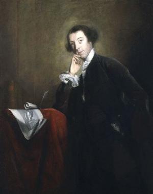 Horace Walpole. Målning av Joshua Reynolds från 1757.