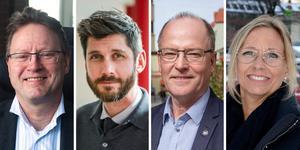 Peter Gotthardsson, Magnus Ydmark, Knut Rost ch Sofie Stark.