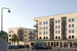 Peab ska börja bygga nya Bjurhovda centrum i sommar. Bild: