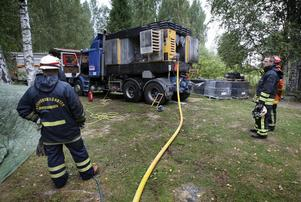 När räddningstjänsten från Smedjebacken kom till platsen var branden redan släckt. Foto:Peter Ohlsson