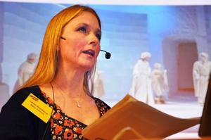 Carina Henriksson medverkade i flera produktioner i Ice Globe Theatre i Jukkasjärvi.