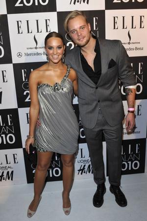 Vincent Pontare tillsammans med flickvännen Agnes Carlsson på Elle-galan på Grand Hotel i Stockholm förra året.