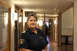Agneta Kumlin, lokalpolisområdeschef för Sala, Fagersta och Surahammar.