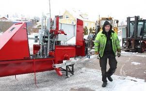 – Maskinen ska till Michigan, säger Kenneth Tholén på KUAB i Lerdal. Foto: Mats Rönnblad