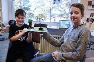 Joakim och Jesper i klass 6C vill ha en fritidsgård för mellanstadieelever.