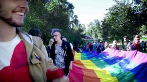 Bild från Falu pride 2015.