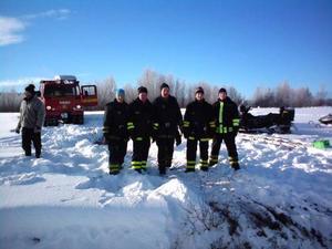 Räddningstjänstens killar i Sveg var onekligen nöjda efter sin annorlunda räddningsinsats.