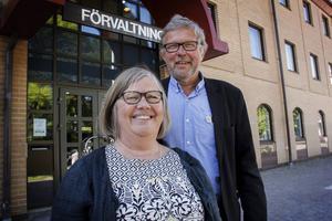 Agneta Olofsson och Mats Hanell, förskolechef respektive verksamhetschef för grundskolan i Söderhamns kommun.