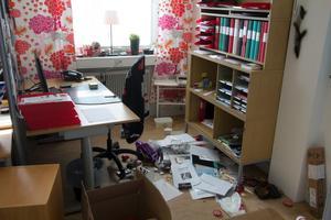 Vandalism på Eldsbodahuset. ABF:s kontor genomsökt av tjuvarna.