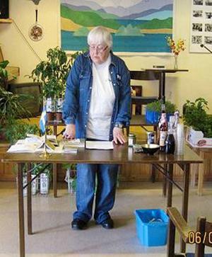 Margot Landgren höll en intressant föreläsning om medicinalväxter.