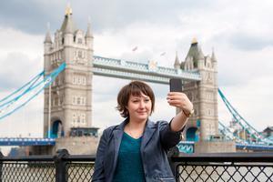 London är populärt för selfies.