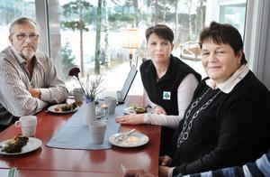 Triss i representanter för Lantbrukarnas riksförbund. Jan Thorén är ordförande, Catharina Engblom är styrelseledamot och Pirjo Gustafsson är ansvarig för Gävleborgs livsmedelsstrategi.