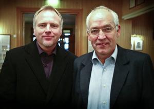 Kenth Persson tillsammans med sin vän och tränarkollega, John-Rune Wikén. Bilden är från 2009.