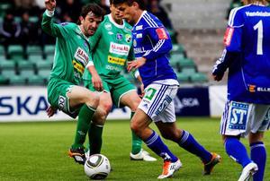 Fredrik Holster satte 1–0 för Giffarna i slutet av första halvlek.