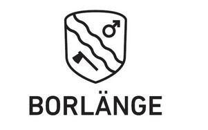 Borlänge kommuns nya logotyp. I första hand ska den användas som svart och vit.