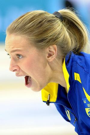 Sofia Mabergs lyckades ta silver i EM, här i finalen mot Ryssland.