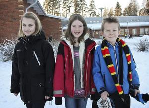 Alva Lydén, Malva Holmqvist och Otto Isacsson på Bergviksskolan tycker att de har koll på hur pengar fungerar.