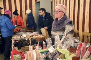 Birgitta Lindh Andersson, Långå, fanns på plats på julmarknaden.